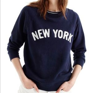 JCrew Navy and White New York Sweatshirt